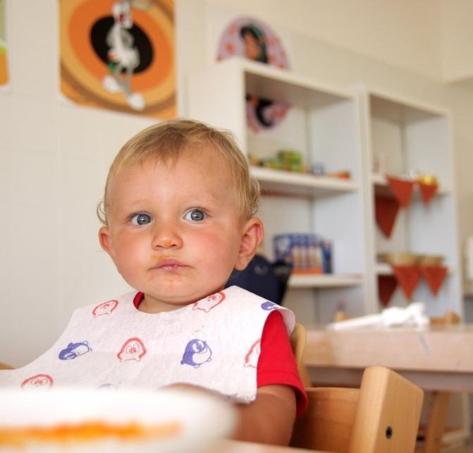Area per la preparazione dei pasti dei bambini