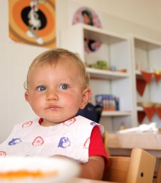 Espace de préparation des repas pour enfants