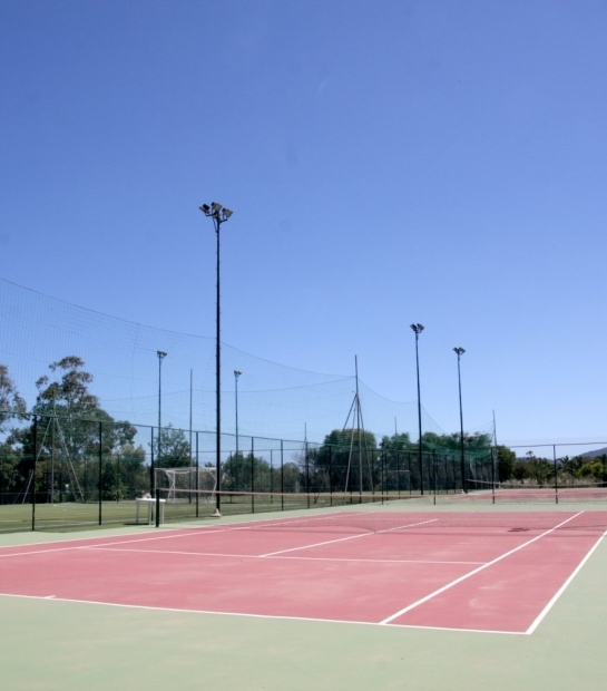Tennis courts at the Hotel Free Beach